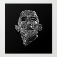 obama Canvas Prints featuring Obama by William