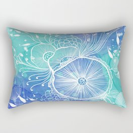 Watercolor Abstract Rectangular Pillow