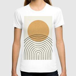 Gold Sun rainbow mid-century full T-shirt