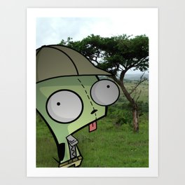 Gir! On Safari! Art Print