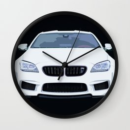 BMW M6 Ilustration Wall Clock