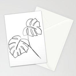 Monstera minimal Stationery Cards