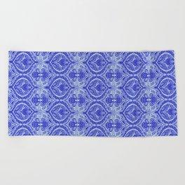 Simple Ogee Blue Beach Towel