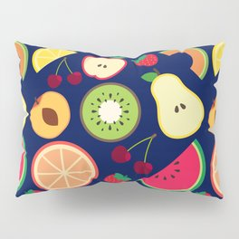 Fruit pattern vector illustration colorful Pillow Sham