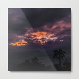 Before a Tropical Storm Metal Print