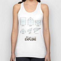 transformer Tank Tops featuring Let's go explore by I Love Doodle