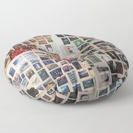 Postcard Wall Spaced Floor Pillow