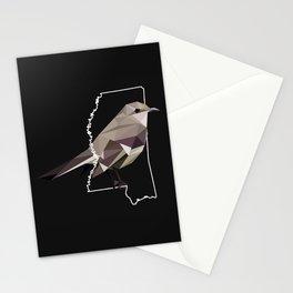 Mississippi - Northern Mockingbird (Black) Stationery Cards