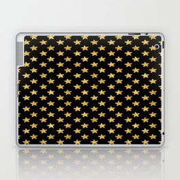 Chic Glam Gold and Black Stars Laptop & iPad Skin