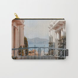 LANDSCAPE PHOTOGRAPHY OF GREY STEEL GATE Carry-All Pouch