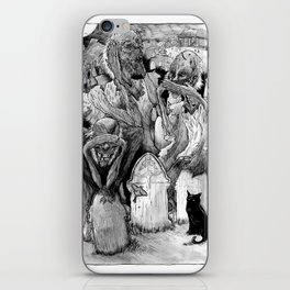 Three Wise Zombies Grayscale iPhone Skin
