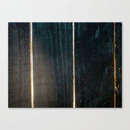 Sunlight dark wooden lumber fence Canvas Print