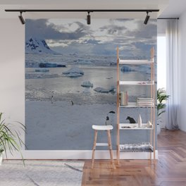 Gentoo Penguins on Ice Wall Mural