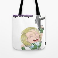 valentina Tote Bags featuring Lola Valentina  by PocketBrawlers