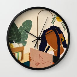 Stay Home No. 4 Wall Clock