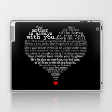 Mother's day poem - inverted Laptop & iPad Skin