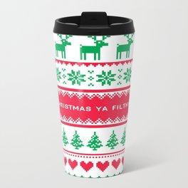 Merry Christmas Ya Filthy Animal Metal Travel Mug