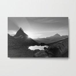 Shining Matterhorn Metal Print