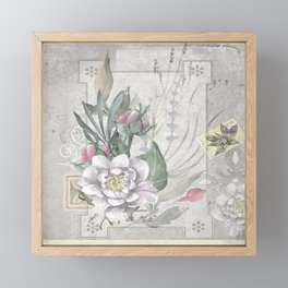 Vintage Floral Framed Mini Art Print