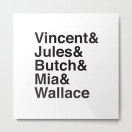 Pulp Helvetica Metal Print