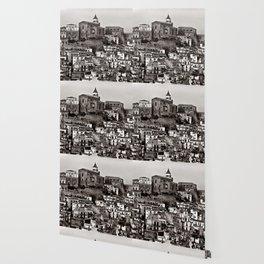 Sicilian Mountain Village Wallpaper