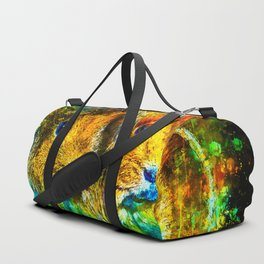 guinea pig couple splatter watercolor Duffle Bag