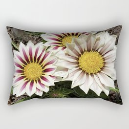 Zany Gazania - red and white stripes Rectangular Pillow