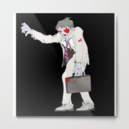 Zombie Collection: Business Man. Metal Print