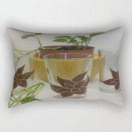 Coleus Plant (Hand-painted set of three glasses) Rectangular Pillow