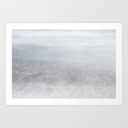 Sea motion , tranqulity Art Print