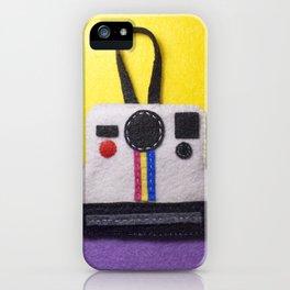 Felt Polaroid iPhone Case