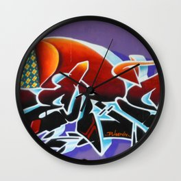 """Pealing back the layers"" Wall Clock"