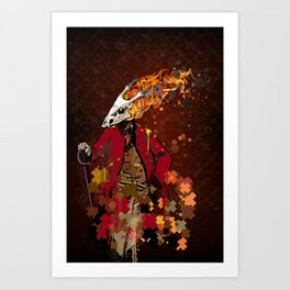 The Burning Trooper Art Print