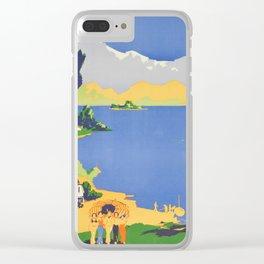 Vintage Wanaka New Zealand Lakeland Travel Clear iPhone Case