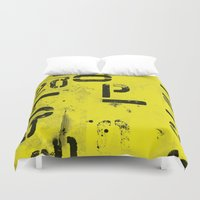 code Duvet Covers featuring Code by ayarti