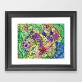 Stained Glass Garden Too Framed Art Print