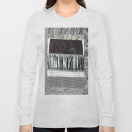 Collage - Black on White Long Sleeve T-shirt