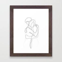 Lovers - Minimal Line Drawing Framed Art Print