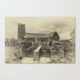 Parish Church of Saint Materiana at Tintagel Canvas Print