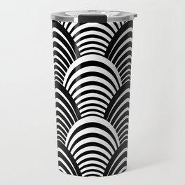 Black and White Art Deco Pattern Travel Mug