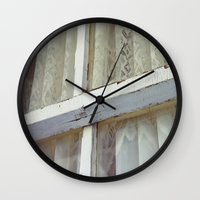lace Wall Clocks featuring Lace by Meegan Dobson