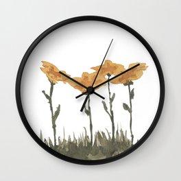 Snow Flowers Wall Clock