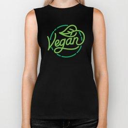 Vegan hand made lettering Biker Tank
