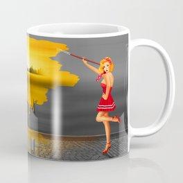An artist paints his life colorful Coffee Mug
