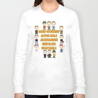 dwight schrute Long Sleeve T-shirts featuring Dwight Schrute Two Words by Alex Dutton