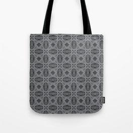 Sharkskin Diamond Floral Tote Bag