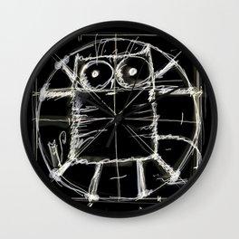 Kot da Vinci (black) Wall Clock