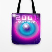 2001 Tote Bags featuring 2001 a Space Odyssey by Scar Design