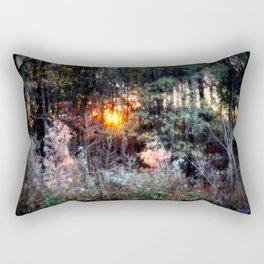 Sunset Forest : Where The Fairies Dwell Rectangular Pillow