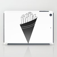 french fries iPad Cases featuring French Fries frites by Keep It Simple